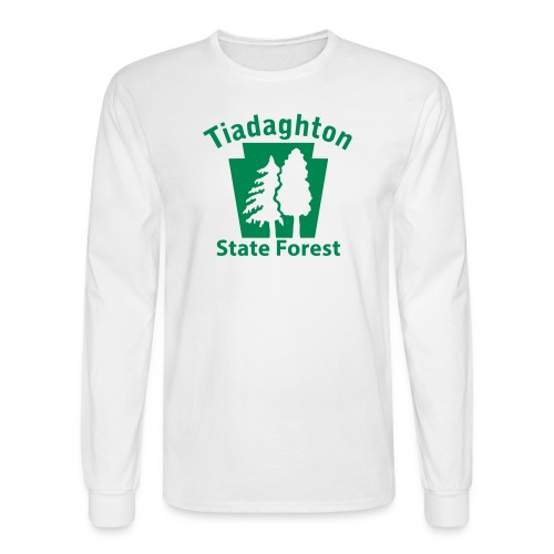 Tiadaghton State Forest Keystone w/Trees - Men's Long Sleeve T-Shirt