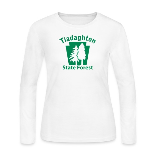 Tiadaghton State Forest Keystone w/Trees - Women's Long Sleeve Jersey T-Shirt