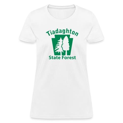 Tiadaghton State Forest Keystone w/Trees - Women's T-Shirt