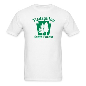 Tiadaghton State Forest Keystone w/Trees - Men's T-Shirt
