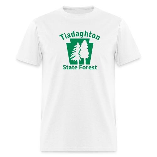 Tiadaghton State Forest Keystone w/Trees - Men's T-Shirt