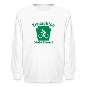 Tiadaghton State Forest Keystone Biker - Kids' Long Sleeve T-Shirt