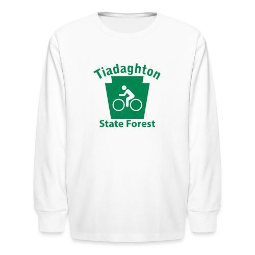 Tiadaghton State Forest Keystone Biker - Kids' Long Sleeve T-Shirt