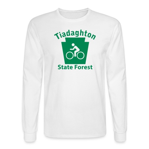 Tiadaghton State Forest Keystone Biker - Men's Long Sleeve T-Shirt