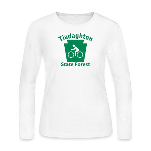 Tiadaghton State Forest Keystone Biker - Women's Long Sleeve Jersey T-Shirt