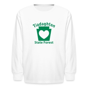 Tiadaghton State Forest Keystone Heart - Kids' Long Sleeve T-Shirt