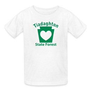 Tiadaghton State Forest Keystone Heart - Kids' T-Shirt