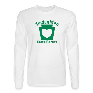 Tiadaghton State Forest Keystone Heart - Men's Long Sleeve T-Shirt