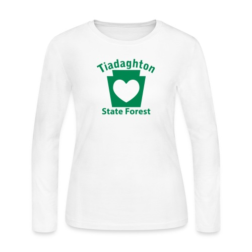 Tiadaghton State Forest Keystone Heart - Women's Long Sleeve Jersey T-Shirt