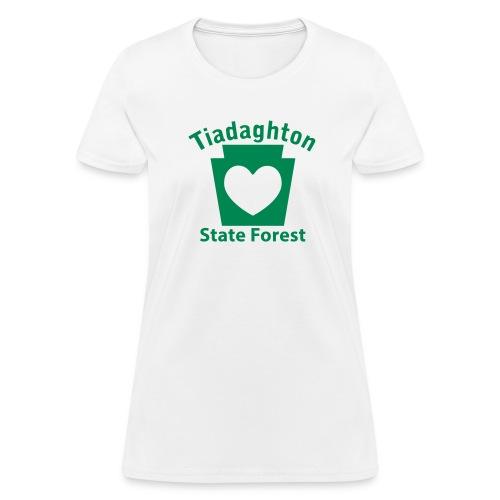 Tiadaghton State Forest Keystone Heart - Women's T-Shirt