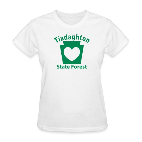 Tiadaghton State Forest Keystone Heart - Women's T-Shirt