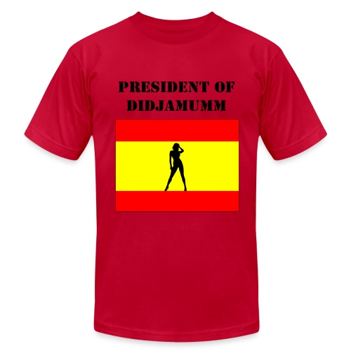 President of Didjamumm _ Form fit - Men's Fine Jersey T-Shirt