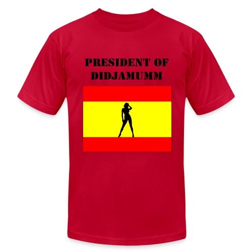 President of Didjamumm _ Form fit - Men's  Jersey T-Shirt