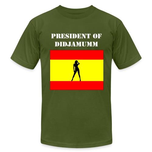 President of Didjamumm _ White text _ form fit - Men's Fine Jersey T-Shirt
