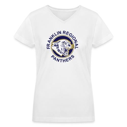 Fitted V-neck Tee - Women's V-Neck T-Shirt
