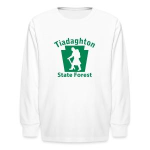 Tiadaghton State Forest Keystone Hiker (female) - Kids' Long Sleeve T-Shirt