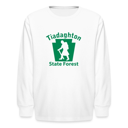 Tiadaghton State Forest Keystone Hiker (female) - Kids' Long Sleeve T-Shirt