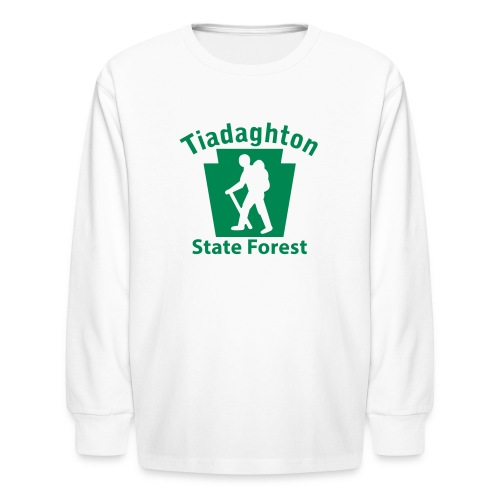 Tiadaghton State Forest Keystone Hiker (male) - Kids' Long Sleeve T-Shirt