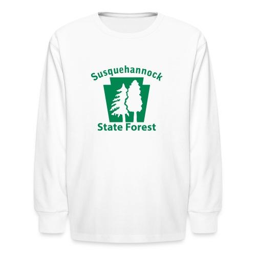 Susquehannock State Forest Keystone w/Trees - Kids' Long Sleeve T-Shirt