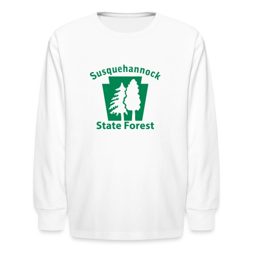 Susquehannock State Forest Keystone w/Trees - Kids' Long Sleeve T-Shirt
