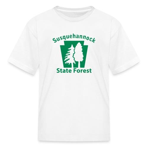 Susquehannock State Forest Keystone w/Trees - Kids' T-Shirt
