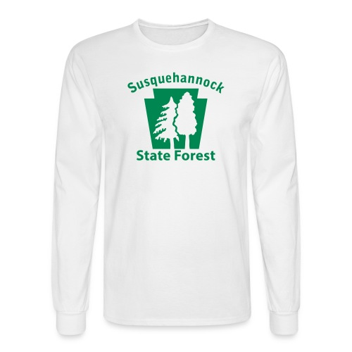 Susquehannock State Forest Keystone w/Trees - Men's Long Sleeve T-Shirt