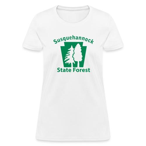 Susquehannock State Forest Keystone w/Trees - Women's T-Shirt
