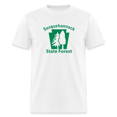 Susquehannock State Forest Keystone w/Trees - Men's T-Shirt