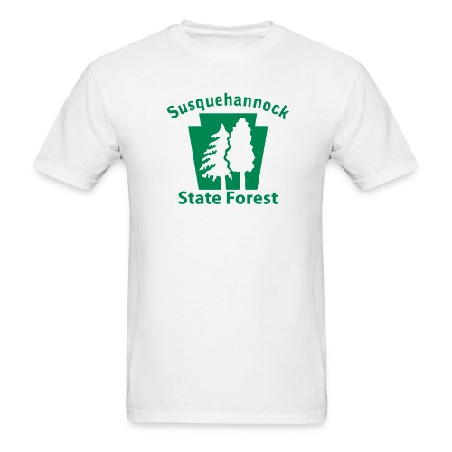 Susquehannock State Forest Keystone w/Trees - Men's T-Shirt