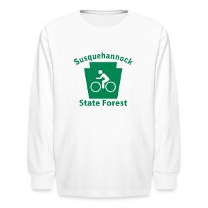 Susquehannock State Forest Keystone Biker - Kids' Long Sleeve T-Shirt