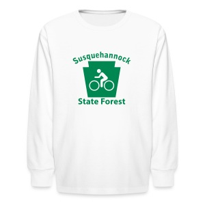 Susquehannock State Forest Keystone Biker - Kids' Long Sleeve T-Shirt