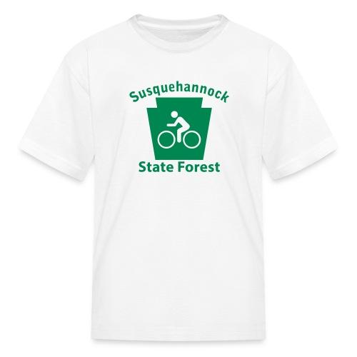Susquehannock State Forest Keystone Biker - Kids' T-Shirt