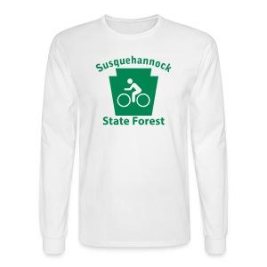 Susquehannock State Forest Keystone Biker - Men's Long Sleeve T-Shirt