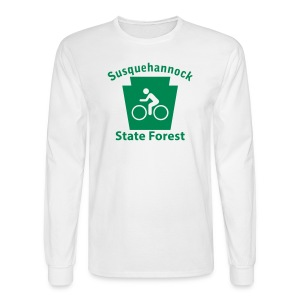 Susquehannock State Forest Keystone Biker - Men's Long Sleeve T-Shirt