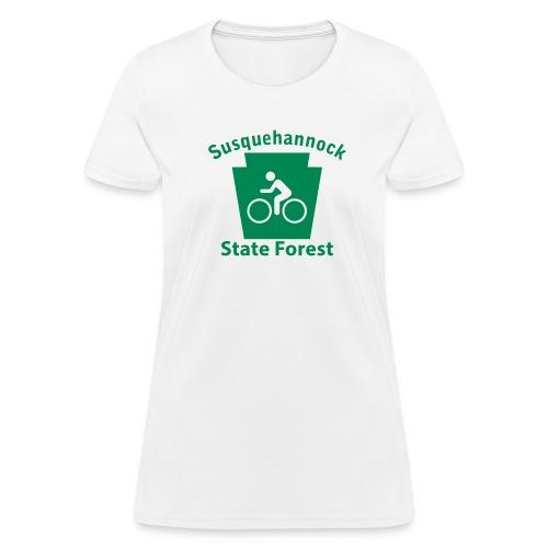 Susquehannock State Forest Keystone Biker - Women's T-Shirt