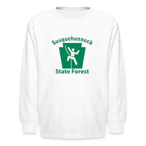 Susquehannock State Forest Keystone Climber - Kids' Long Sleeve T-Shirt