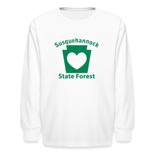 Susquehannock State Forest Keystone Heart - Kids' Long Sleeve T-Shirt