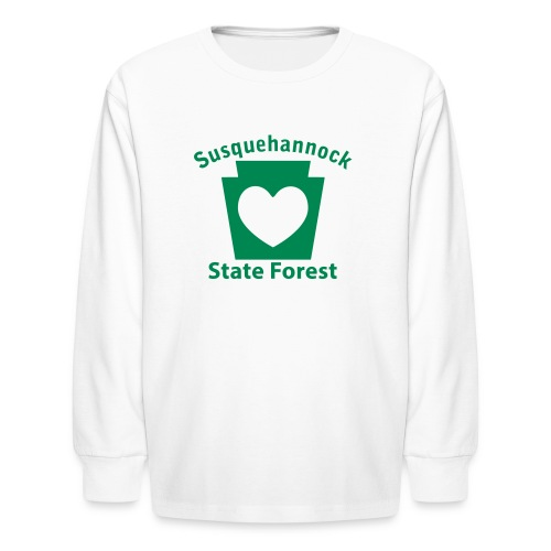 Susquehannock State Forest Keystone Heart - Kids' Long Sleeve T-Shirt