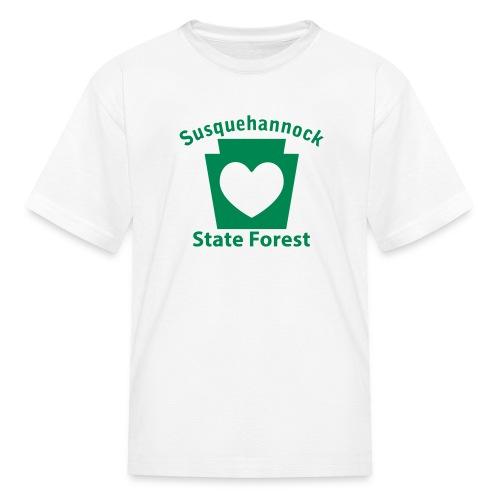 Susquehannock State Forest Keystone Heart - Kids' T-Shirt