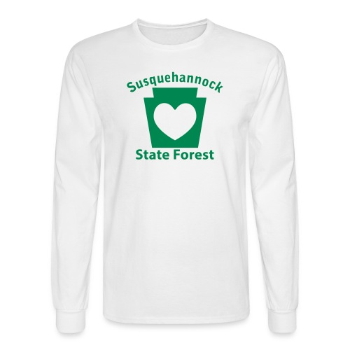 Susquehannock State Forest Keystone Heart - Men's Long Sleeve T-Shirt