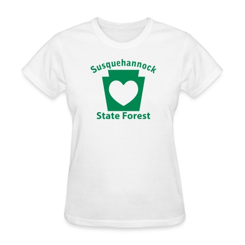 Susquehannock State Forest Keystone Heart - Women's T-Shirt
