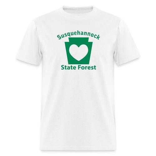 Susquehannock State Forest Keystone Heart - Men's T-Shirt