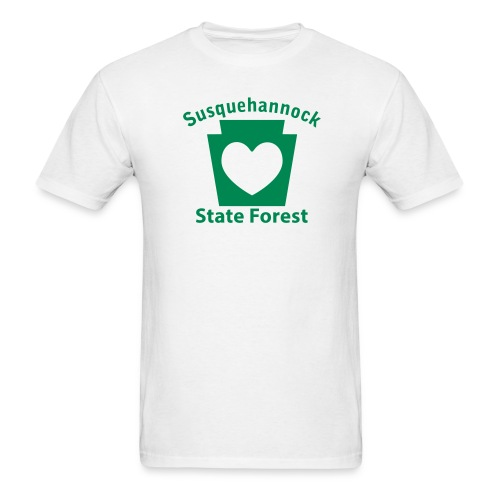 Susquehannock State Forest Keystone Heart - Men's T-Shirt