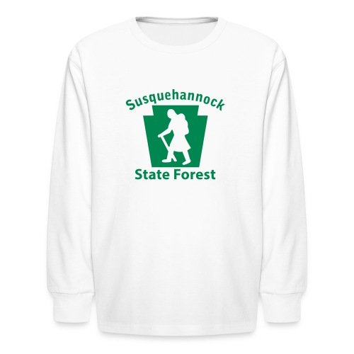 Susquehannock State Forest Keystone Hiker (female) - Kids' Long Sleeve T-Shirt