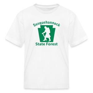 Susquehannock State Forest Keystone Hiker (female) - Kids' T-Shirt