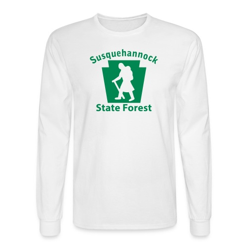 Susquehannock State Forest Keystone Hiker (female) - Men's Long Sleeve T-Shirt