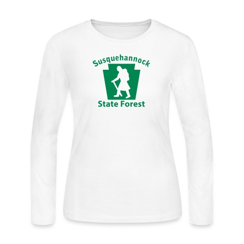 Susquehannock State Forest Keystone Hiker (female) - Women's Long Sleeve Jersey T-Shirt