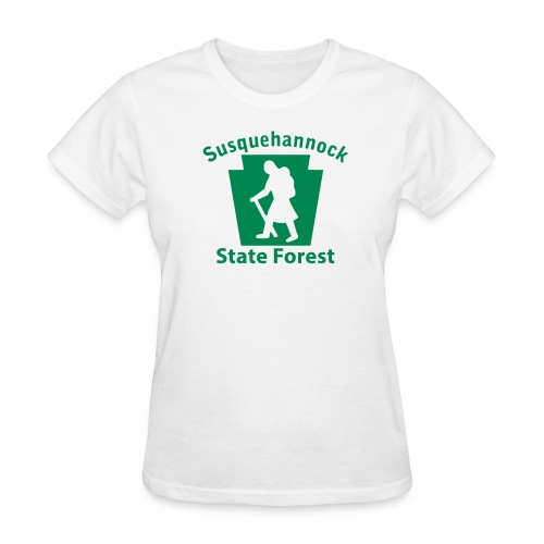 Susquehannock State Forest Keystone Hiker (female) - Women's T-Shirt