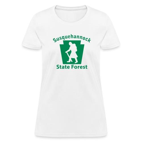 Susquehannock State Forest Keystone Hiker (female) - Women's T-Shirt