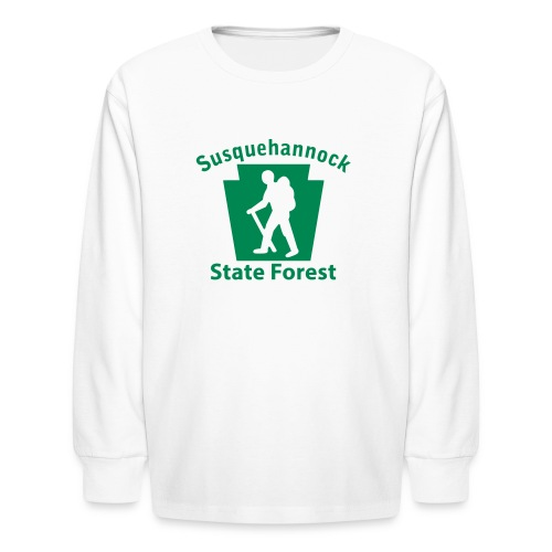 Susquehannock State Forest Keystone Hiker (male) - Kids' Long Sleeve T-Shirt